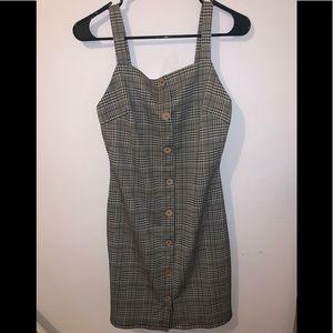 Plaid Button-down Dress